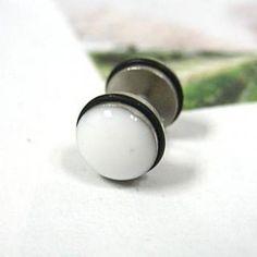 Single Earring White - One Size