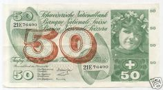 SWITZERLAND, 50 Francs 23/12/1965 XF+ , P-48f Large size banknote. http://www.ebay.com/itm/SWITZERLAND-50-Francs-23-12-1965-XF-P-48f-Large-size-banknote-/390167047955?pt=Paper_Money&hash=item5ad7c4af13