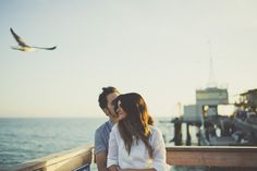 beautiful engagement shoot on the pier