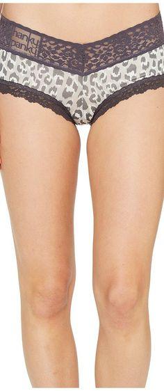 Hanky Panky Fur-Tive Jersey V-Front Boyshort (Grey Animal) Women's Underwear - Hanky Panky, Fur-Tive Jersey V-Front Boyshort, 6K1221-061, Apparel Bottom Underwear, Underwear, Bottom, Apparel, Clothes Clothing, Gift - Outfit Ideas And Street Style 2017