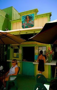 mermaids cafe in kapaa-- ahi nori wrap is sooo awesome! It weighs a ton and would be great to share. You could get an Acai bowl to share next door at Java Kai :) good 100% Kona coffee there too! Looked like they had a good menu as well