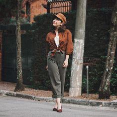 """852e7d53e Barbara Graves -Like Old Times on Instagram  """"Mais um look da minha collab  com a  donavintageshop 🌿🍂 E amei muito esse! Calça"""
