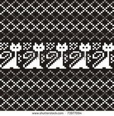 Woman ornamental pattern for knitting and embroidery.