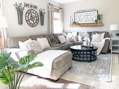 Complete your farmhouse with neutral colors and wood accents.