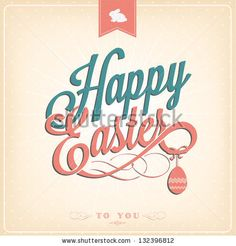 Happy Easter Typographical Background #Easter Inspiration from Shutterstock http://www.webdesign.org/easter-inspiration-from-shutterstock.22414.html