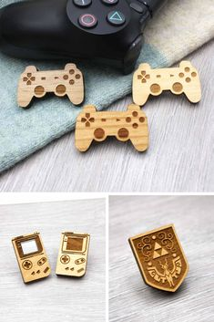 Premium quality pin badges made from solid cherry wood and stunning acrylics. Laser Cutter Ideas, Laser Cutter Projects, Cnc Projects, Geek Crafts, Diy And Crafts, Star Wars Cartoon, Laser Cutter Engraver, La Petite Boutique, Gravure Laser