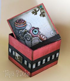 Tays Rocha: Caixa em scrap decor com envelhecimento - Workshop True Colors #scrapdecor #workshop #mundocountry #taysrocha