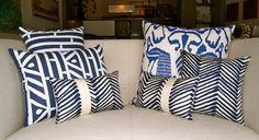 Gabriela Ortiz cushions. Quadrille Fabrics.