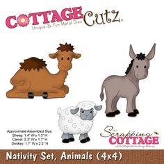 Cottage Cutz-Die-Nativity Set Animals