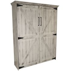 MURPHY BED...who doesn't love a great Murphy Bed for space saving. This one has a new design using Rustic barn doors. Choose the wood finish of choice From ebony to pine to cherry.