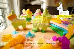 How to make a mini pinata. Cute party favor idea.