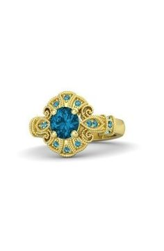 #Gold #Blue #Rings #jewellery