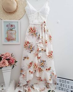 Cute fashion outfits ideas – Fashion, Home decorating Cute Dresses, Casual Dresses, Casual Outfits, Summer Dresses, Skirt Outfits, Dress Skirt, Dress Up, Super Moda, Boho Fashion