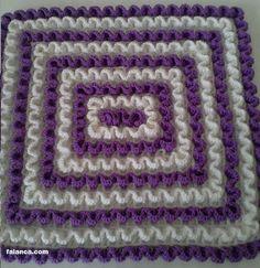 Lif Modelleri 2016 - 27 Wiggly Crochet, Crochet Mat, Crochet Stitches Free, Manta Crochet, Crochet For Kids, Crochet Doilies, Crochet Patterns, Serpentina, 3d Pattern