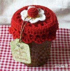 Crochet Parfait: Laid-Back Cat Amigurumi - free pattern Crochet Diy, Crochet Amigurumi, Crochet Food, Crochet Kitchen, Love Crochet, Crochet Gifts, Crochet Flowers, Crochet Jar Covers, Confection Au Crochet