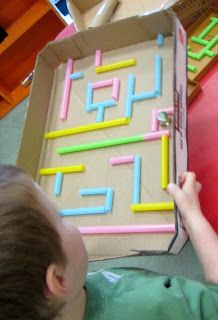 We had the traditional marble maze out this week. Which is great for challenging the children to build and rebuild the pathways for the mar. School Age Activities, Eyfs Activities, Work Activities, Motor Activities, Michelle Game, Preschool Transportation Crafts, Marble Maze, Marble Runs, Math Night