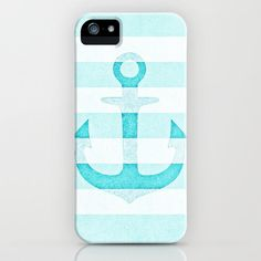 *** Vintage Anchor AQUA *** iPhone & iPod Case by M✿nika  Strigel for iphone 5 + 4S + 4 + 3 GS + 3 G + ipod Touch + Samsung Galaxy available