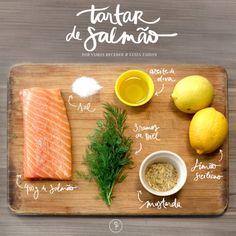 Tartar de salmão! Passo a passo by Lu Zaidan e Vamos Receber