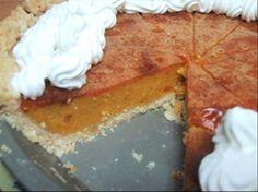 Pumpkin Pie - Made with Splenda©, No fat, No cholesterol.  Less than 70 Calories, and Less than 15 Carbs per slice!