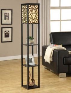 We love the Wallace Shelf Floor Lamp for a dorm room! #kirklands #dormroom #lighting