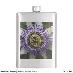Passion Flower Hip Flasks