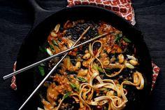 Fire Noodles with Crispy Tofu