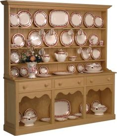 Large dresser with sovereign red china
