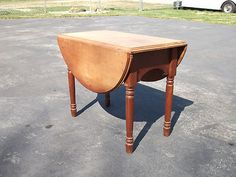 Vintage Antique Wood Drop Leaf Table, Salesman Sample, Doll, 20 X 26 X 15-33