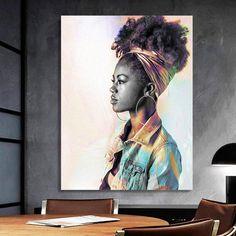 African-American Woman Vector Beauty Woman, African Art, Canvas decoration for living room, Housewarming Gift, Black Woman Art Comic Poster, New Poster, Great Housewarming Gifts, Black Women Art, African American Women, Home Wall Art, Beautiful Artwork, African Art, Female Art
