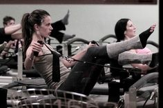 Victoria's Secret supermodel Alessandra Ambrosio maintains her svelte shape by going to a Pilates class.