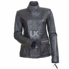 I am Legend Anna Montez (Alice Braga) Black Biker Leather Jacket