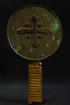 Christian bronze mirror.