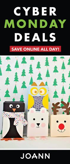 One of your favorite online shopping holidays is here! To celebrate the occasion, check out the Cyber Monday Deals from JOANN! Sunday November 26th through Tuesday November 28th, you can save on all the craft supplies and DIY essentials you'll need this holiday season.