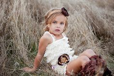 shabby chic lace ruffle rompers