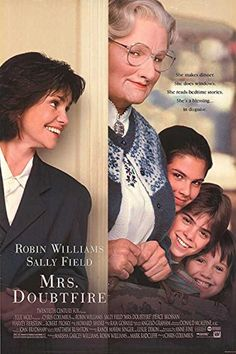 """Mrs. Doubtfire - Authentic Original 26.75"""" x 39.75"""" Movie Poster -- Awesome products selected by Anna Churchill"""