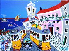"""J. B. DURÃO was born in 1957 in Lisbon, Portugal. """"Lisboa, Largo das Portas do Sol"""""""