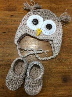 Crochet Owl Baby Booties Pattern : 1000+ ideas about Crochet Owl Hat on Pinterest Owl Hat ...