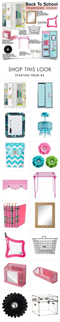 """Back to School: Locker Organization"" by dooda13 ❤ liked on Polyvore featuring interior, interiors, interior design, home, home decor, interior decorating, U Brands, CB2 and BackToSchool"