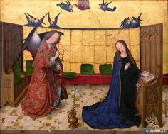 Maître de la Vie de Marie : Sainte Vierge : Archange Gabriel : Annonciation : L'Annonciation