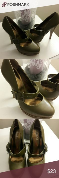 💖 Super Cute Charles David Heels 💖 Reposh!! Love these, so bummed! I was so hoping they would fit but they're a smidge too small 🙁 just looking to get back what I spent... open to resonable offers too! 💕😉 Charles David Shoes