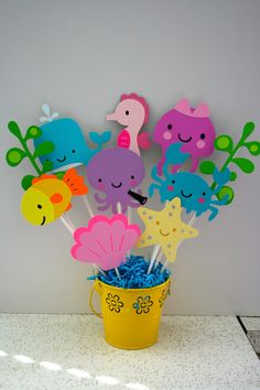 A game for a party!  Each person has their own color or animal to find.  When the person finds them all, they win a prize!