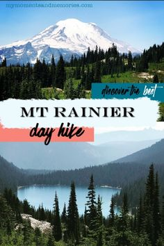 Mt Rainier - your best day trip option - My Moments and Memories Oregon Travel, Travel Usa, Day Hike, Day Trip, Places To Travel, Places To Visit, Mt Rainier National Park, Mountain Silhouette, Cascade Mountains