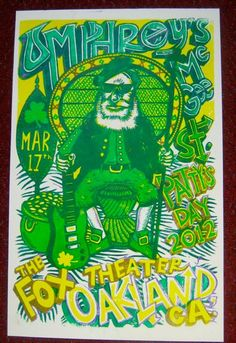 Official poster by Jim Pollock - Umphrey's McGee 3.17.12 Fox Theatre ~ Oakland, CA