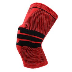 Sports Knee Brace Support Nylon Sleeve Compression Unisex (1 Piece) - Red / L