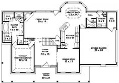 Floor Plans On Pinterest Farmhouse Plans House Plans And Country