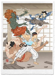 Image of 'Battle in the Bath House' Giclée