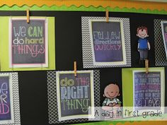 "Use scrapbook paper and clips to display your students' work or posters! Add ""washi tape"" to your clips to decorate them."