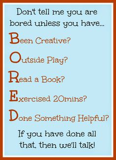 The Things I Love: How to Help Your Kids Not Be Bored This Summer