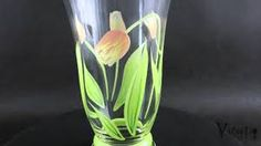 Image result for hand painted glasses of tulips
