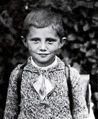 "Pope Benedict XVI's childhood letter to the Baby Jesus (Catholic World Report). Written in 1934, Joseph Ratzinger was seven years old: ""Dear Baby Jesus, quickly come down to earth. You will bring joy to children. Also bring me joy. I would like a Volks-Schott, green clothing for Mass and a heart of Jesus. I will always be good. Greetings from Joseph Ratzinger."""